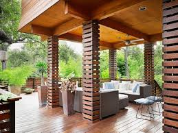 Outdoor Living Patio Ideas by Great Column Or Feature Wall Treatment Simple Quick Cost