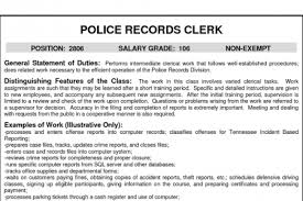 resume for police records clerk download medical records resume