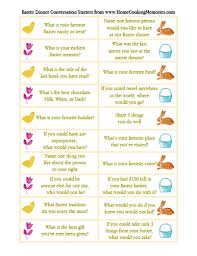 free printable easter dinner conversation starters home cooking