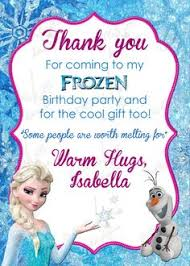 free frozen birthday thank you cards frozen party pinterest