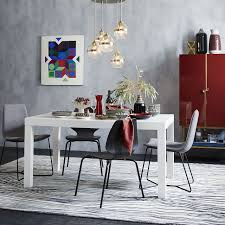 glass parsons dining table parsons dining table rectangle westelm pinterest chandeliers