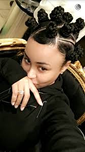 blac chyna u0027s braided bantu knots follow for more hairstyles