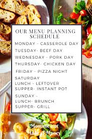 cuisine easy orens menu planning meal planning batch cooking dinner lunch supper