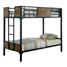 Metal Bunk Bed Frame Furniture Of America Markain Industrial Metal Bunk Bed Free