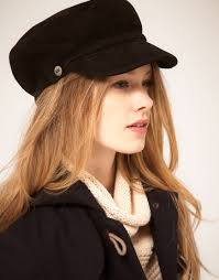ugg sale hats ugg shearling visor cap in black lyst
