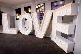 white light up letters our products