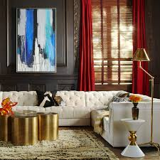 Jonathan Adler Curtains Designs Canaan Black Accent Table Modern Furniture Jonathan Adler
