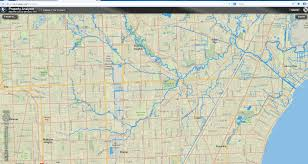 Michigan River Map by Maps Of Red Run Red Run