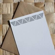 letterpress stationery modern triangle letterpress stationery by cerulean press