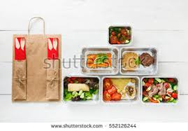 healthy food delivery take away natural stock photo 536932408