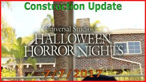 halloween horror nights 2017 construction update 2 youtube