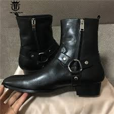 classic leather motorcycle boots compare prices on men rock boots online shopping buy low price