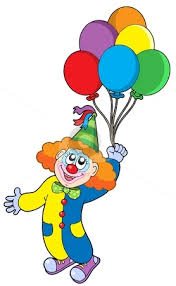clown baloons clown with balloons clipart