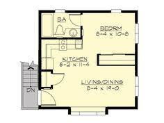 Simple Garage Apartment Plans Two Story 1 Car Garage Plan 722 2 By Behm Design Has Small