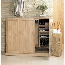 Oak Wood Furniture Mobel Oak Extra Large Shoe Cupboard Wooden Furniture Store