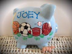 sports themed piggy banks what a great gift idea completely customizable large ceramic