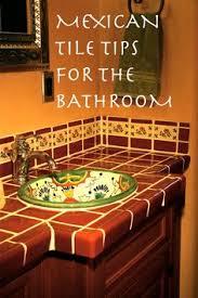 Mexican Tile Bathroom Designs 44 Top Talavera Tile Design Ideas Tile Design Countertop And Toilet