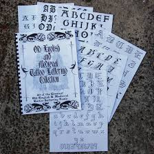 book of 40 old english medieval tattoo lettering fonts ebay