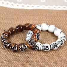 bracelet skull beads images 2 pcs man made yak bone skull beads man 39 s bracelet h1353 on luulla JPG