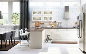 ikea kitchen gallery scandinavian ikea kitchen remodel with white cabinets and wooden