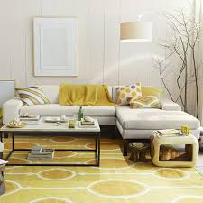 Yellow Living Rooms Yellow Rug Joyful Color For Spring Modern Rugs For Home