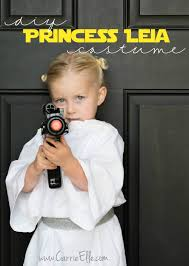 no sew diy princess leia costume for kids leia star wars star