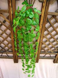 Garden Wall Decoration by Garden Green Leaf Vines Artificial Hangings Plants Home Outdoor
