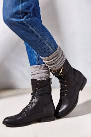 short moto boots frye jamie artisan lace up boot in black lyst