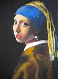 painting the girl with the pearl earring with pearl earring painting by marc mancuso