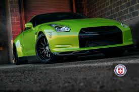 nissan green hre wheels turned this nissan gt r into a terrifying green monster