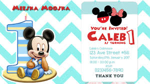 mickey mouse clubhouse birthday invites awesome first birthday mickey mouse invitation psd birthday
