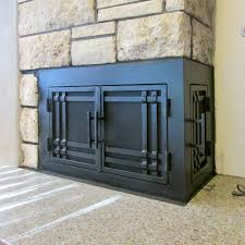 l shape custom fireplace doors fireplace door guy