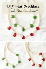 make pearl necklace images Vikalpah diy pearl necklace using briolette beads jpg