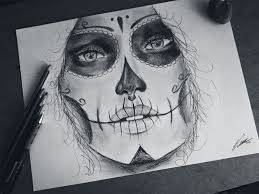 day of the dead drawing by keatondesigns on deviantart