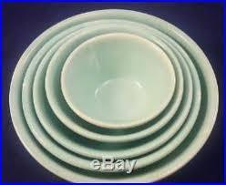 homer laughlin vintage vintage homer laughlin appletree set of 5 nesting bowls 1935 apple