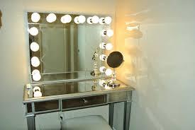 Glass Makeup Vanity Table Large Mirror Lights Bedroom White Clear Top Makeup Vanity Table