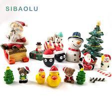 snowman miniature figurine home decoration garden