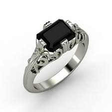 Gothic Wedding Rings by Black And Purple Wedding Rings For Her Lake Side Corrals