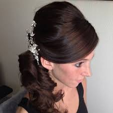 Bridal Hair And Makeup Las Vegas Wedding Curls Side Hair Pony Poof Hair Makeup Pinterest