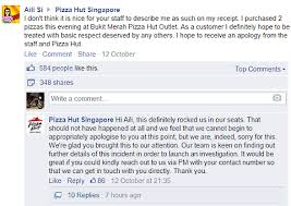 pizza hut help desk phone number pizza hut singapore apologizes for labeling customer pink fat lady