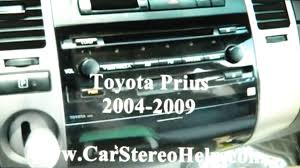 how to toyota prius hybrid car stereo removal 2004 2009 replace