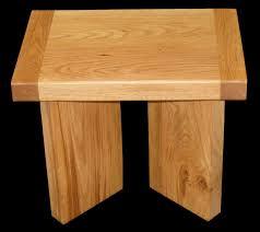 Oak Side Table Handmade Modern Contemporary Solid Oak Side Table