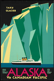 Alaska how to travel for free images Alaska via canadian pacific vintage travel poster free vintage jpg