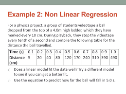 Linear Regression Table Linear U0026 Non Linear Regression Ppt Video Online Download