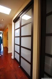 Asian Closet Doors Updated Shoji Style Sliding Closet Doors With Translucent Glass