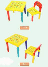 home table and chair children kids activity playing abc