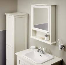 Mirrored Cabinets Bathroom Alluring Savoy White Mirror Cabinet Bathstore At