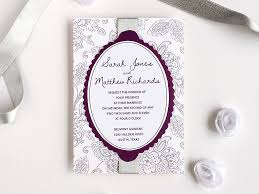purple and silver wedding invitations 3 diy wedding invitations using an matelasse print