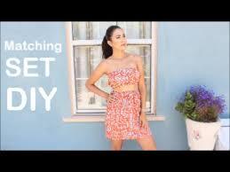 matching set matching set diy crop top high waisted skirt