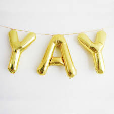 gold balloons balloon letters 16 gold hanging balloons letters air fill